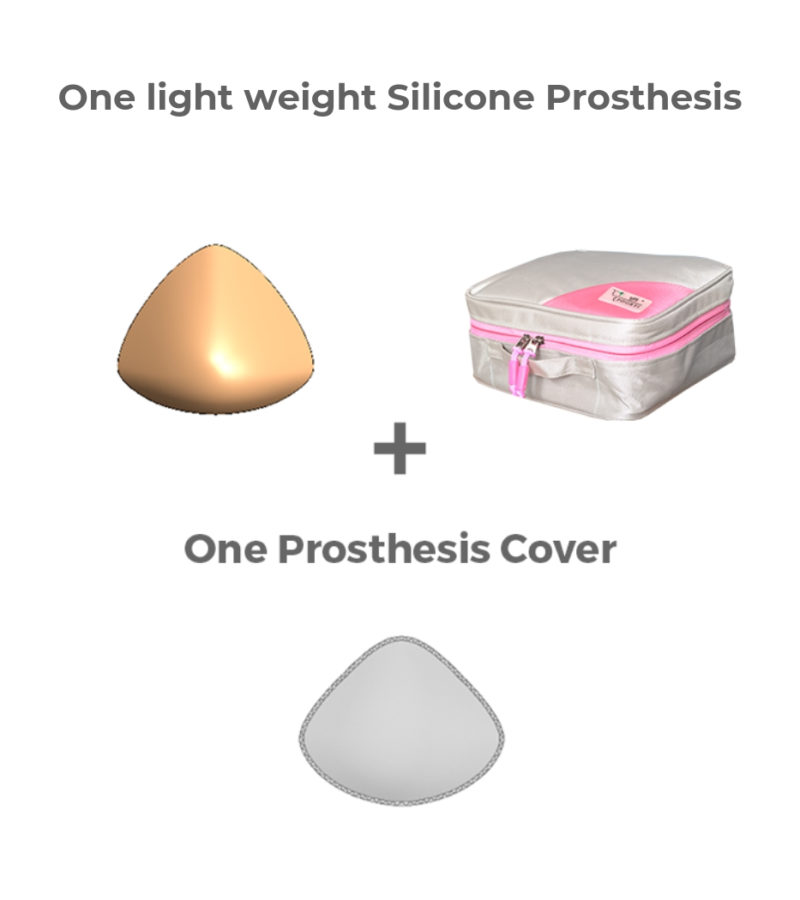 Poorti is a light weight silicone prosthesis